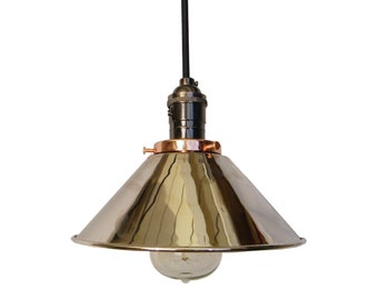 Chrome Cone Shade Pendant Lighting Mix and Match Any Hardware Copper Chrome Black Sockets Ceiling Industrial Modern Light Fixture