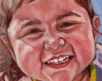 Custom Portrait Painting, Portrait Art , Photo to Painting, Family Keepsake, 5x7