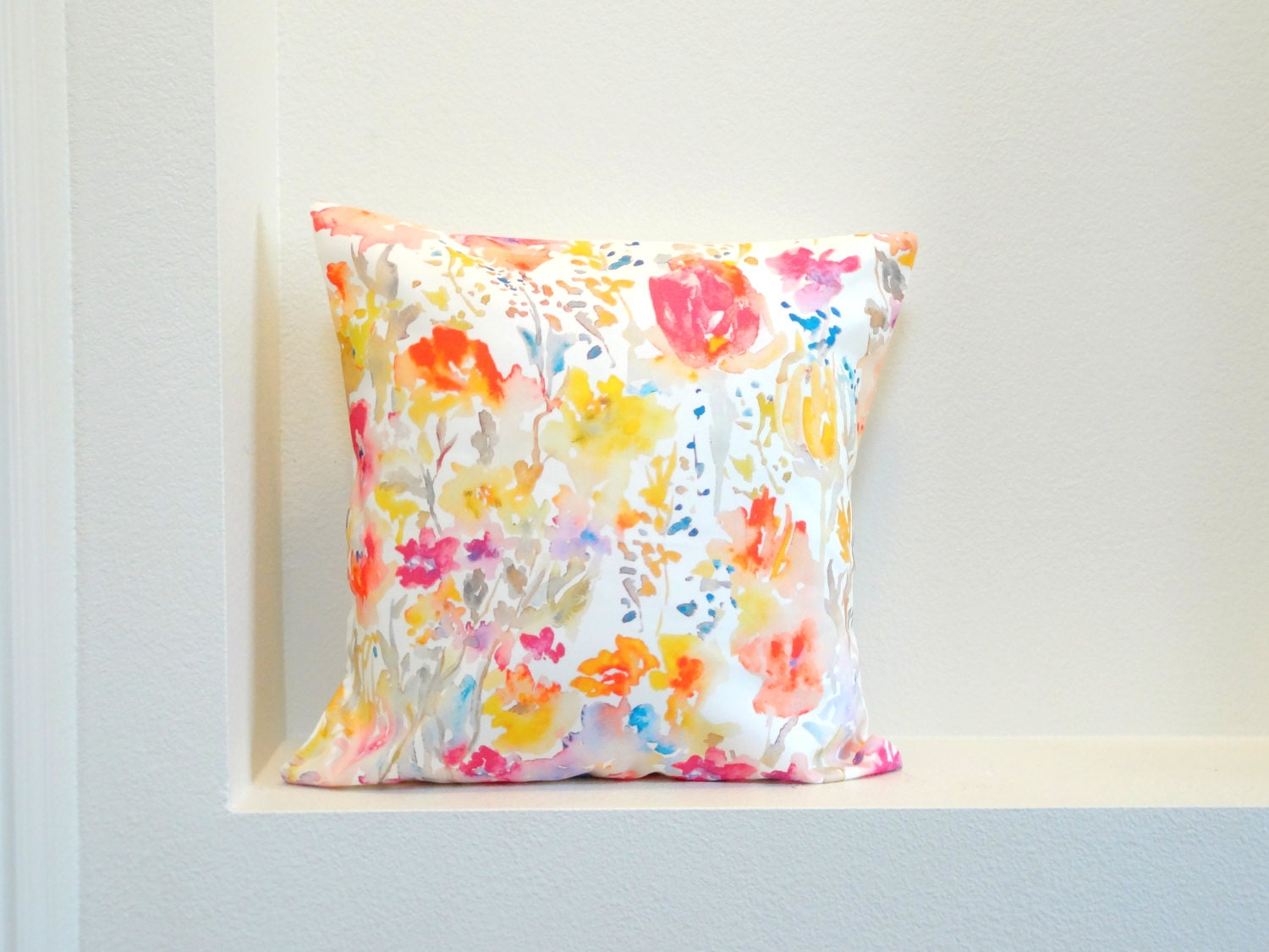 Unique watercolor pillow related items Etsy