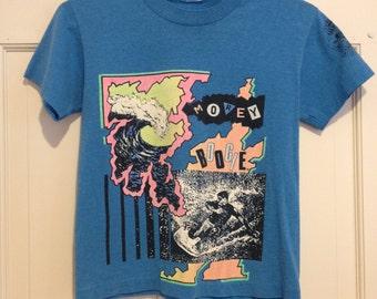 80s Neon Graphic Surf Boogie Crop T-Shirt