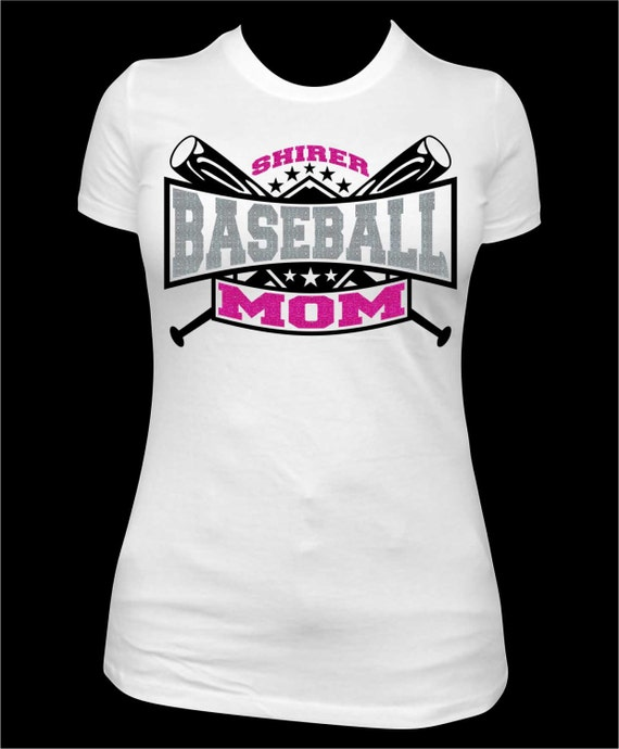 Baseball mom baseball tee baseball shirt baseball mom for Custom t shirts for teams