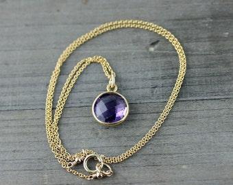 Amethyst Necklace on 14k Gold Fill