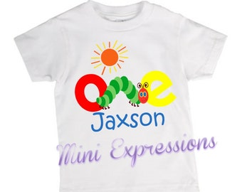 Very Hungry Caterpillar inspired Shirt Personalized