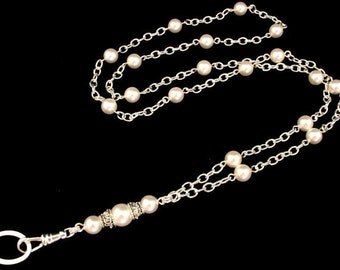 Lanyard - Simply Beautiful Pearl