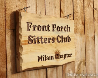 Custom Engraved Rustic Sign, Cabin Name Display Wood Plaque