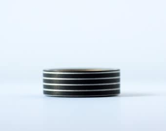 Black Line Washi Tape-  Single Roll 15 mm x 10 m