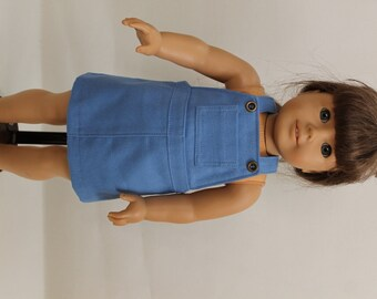 Blue Jeans-Style Jumper for American Girl Doll