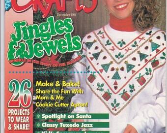 Wearable Crafts Magazine, December 1994, Craft Projects to Wear & Share, Wearable Craft Project Assortment