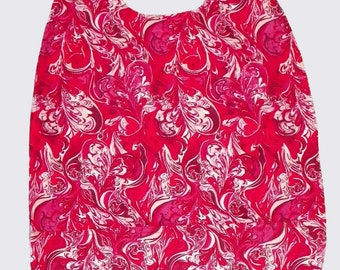 Adult Bib Extra Long with Pocket Red Oil Paint