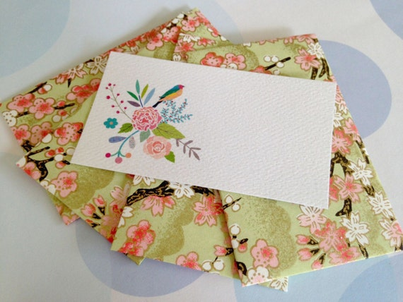 Gift Enclosure cards, Mini Cards and Envelopes, Set of 10