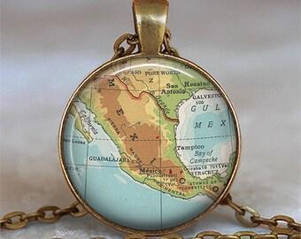Mexico map pendant, Mexico map necklace, Mexico pendant, Mexico necklace, resin pendant Mexico keychain, Mexico key chain