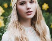 Pastel Yellow Turban Headband, Pastel Headband, Spring Turban Headwrap, Pastel Hair Accessory