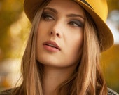 Honey Yellow - Winter Felt Hat - Autumn Classic Trilby - Handmade Fedora - Accessory Women - All Year Hats - Fashion Trends - AW14/15