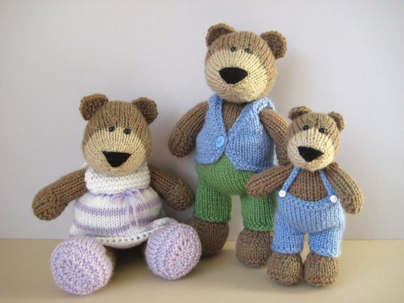 The Three Bears toy knitting patterns