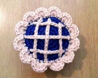 Blueberry Pie Crochet Food, Pretend Play Food, Amigurumi Kids Toy, Food Plushies, Crochet Kitchen Decor