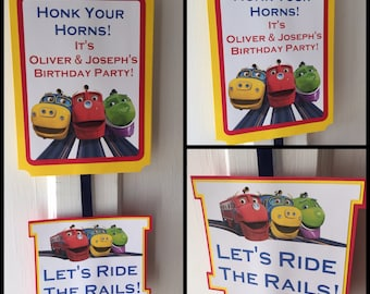 Chuggington Party Door Sign
