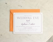 party, rehearsal dinner or shower invitation - plum and poppy
