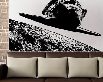 Vinyl Wall Art Decal Sticker Orbiting Shuttle 5499s