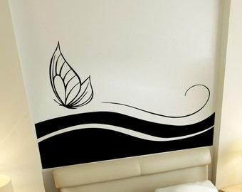 Vinyl Wall Art Decal Sticker Butterfly Leaves Design 5505m