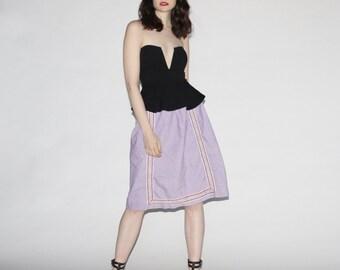 Vintage 60s Lavender Boho Skirt - Vintage Pastel Skirt - The Gypsy Dreams Skirt - wb0157