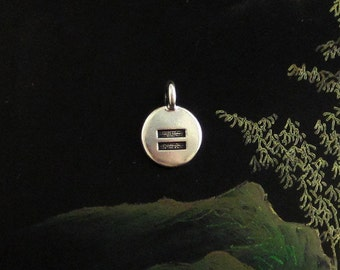 NEW TierraCast Tiny Silver Equality Disk Charm *YOU Collection*