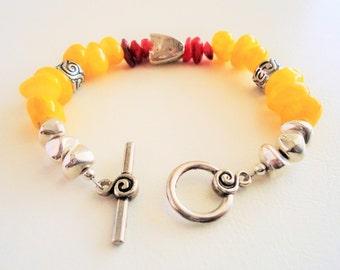 Yellow and Red Sunnyside Bracelet / B017