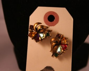 Vintage Multi-Colored Converted Earrings