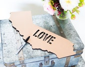 "Wedding Guestbook State Love Sign - 20"" Large Wooden Guestbook Home State Cutout for Guestbook Alternative or Decor ( Item - GBS200 )"
