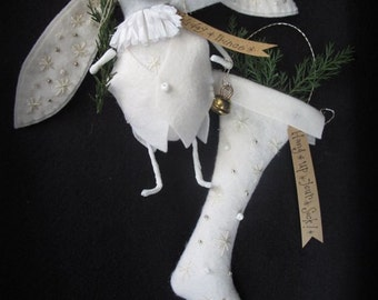 Holiday Prince and Christmas Sock White Christmas Ornaments E-PATTERN by cheswickcompany