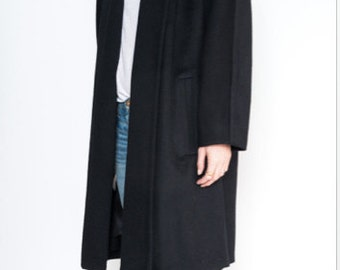90s Black coat from The limited