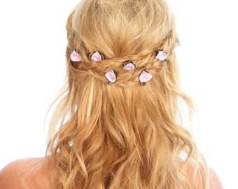 Flower Hair Pins / Flower Bobby Pins / Floral Hair Pins / Kristin Perry