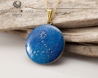 Zodiac Jewelry Pisces 20 February – 20 March - glow in the dark uv constellation necklace universe  - astrology jewelry