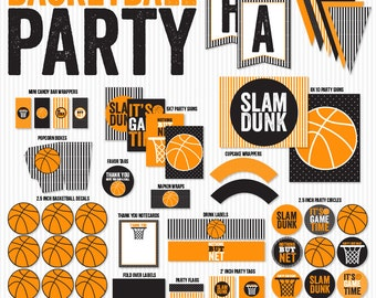 Basketball Printable Party PRINTABLES (INSTANT DOWNLOAD) by Love The Day