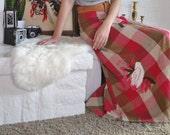 Vintage Skirt 60s Maxi Wrap High Waist Mexican Skirt Plaid Embroidered Bird Novelty S M L Festival Summer Spring