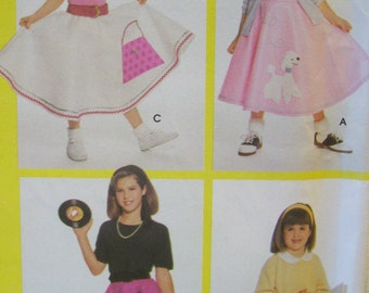 Simplicity 9924 Girls Circular Skirts and appliques Poodle applique  Size 7 8 10 12 14 16  Sewing for dummies Uncut