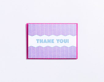 "Party | ""Thank You!"" Letterpress Card"