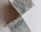 Hold and Fold a dreamy keepsake dusky blue ferns Handmade original floral botanical artist book by Stef Mitchell Gift for nature lover