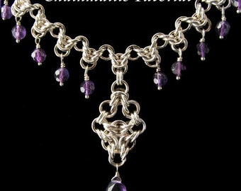 Chainmaille Tutorial for Arrow Drop Pendant or Earrings PDF Instructions Only