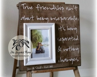 Best Friend Gift, Girlfriend Gift, Personalized Picture Frame 16x16