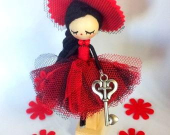 Brooch  jewelry doll/brooch doll, witch brooch, witch doll,