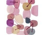 Watercolor print Rose Quartz Abstract painting Watercolor Painting Pantone 2016