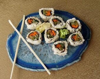 Large Agate Sushi Slice Gemstone Plate Platter