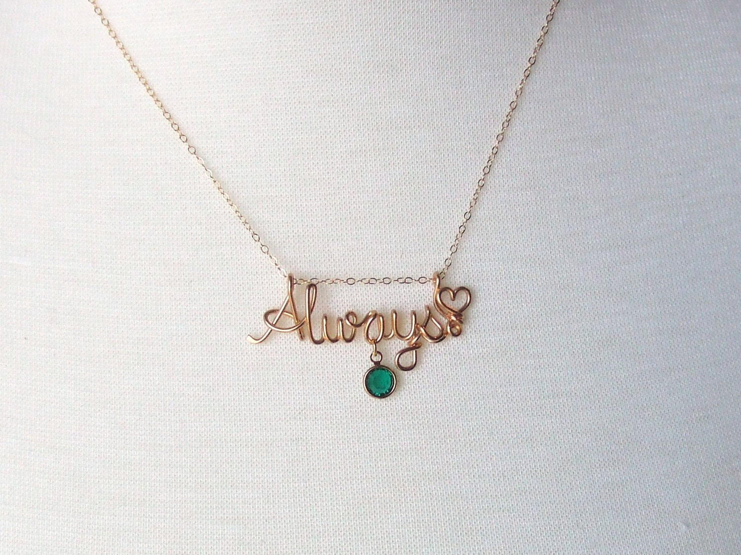 custom name word necklace 14k gold filled by