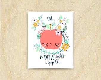 Lovely Apple Print