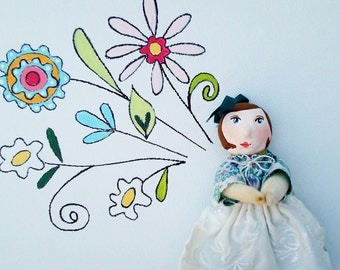 "Handmade Doll-""Pocket Mom"" Gift for Mom, Gift from Mom"