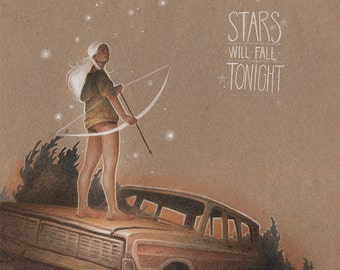Stars will fall Tonight - Art print