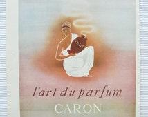 Genuine 1950's French Advert 'Caron' Perfume