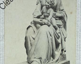 French Vintage Unused Postcard - The Virgin Statue, Notre-Dame de Bétharram, France (Clearance Item)