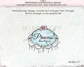 Premade Logo Design custom logo design / Chandelier logo / swirls frame border / photography logo / Deco logo by princessmi 1263-17