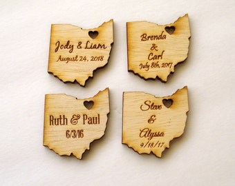 100 Ohio State Wedding Favors Custom Engraved